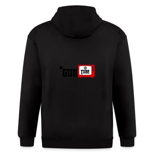 guntube larger logo - Men's Zip Hoodie
