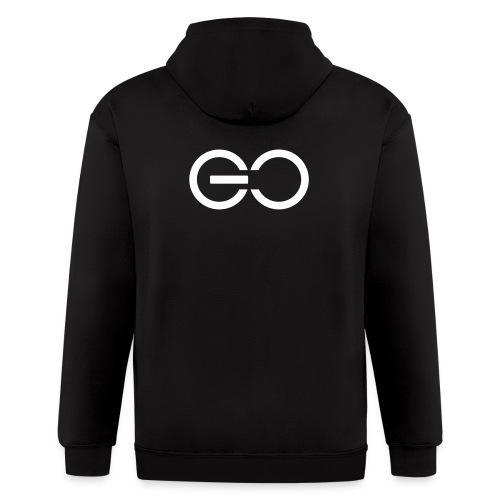 GO logo big - Men's Zip Hoodie