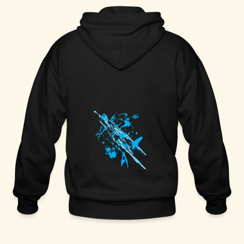 Blue Splash - Men's Zip Hoodie