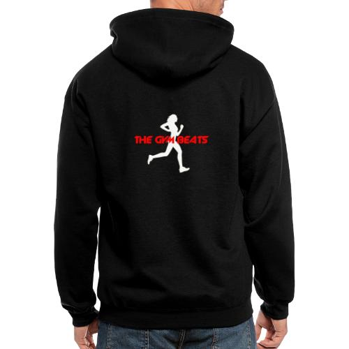 The GYM BEATS - Music for Sports - Men's Zip Hoodie