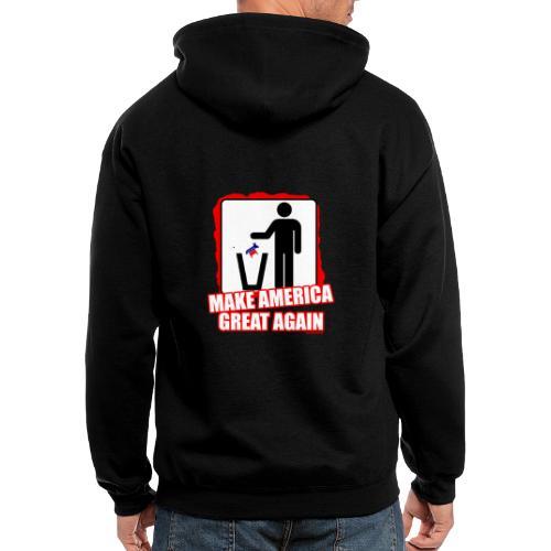 MAGA TRASH DEMS - Men's Zip Hoodie