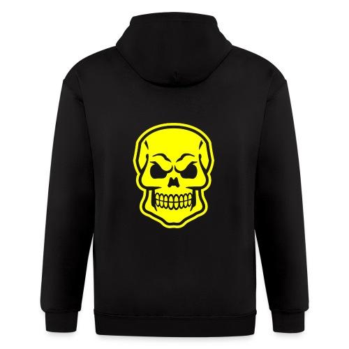 Skull vector yellow - Men's Zip Hoodie