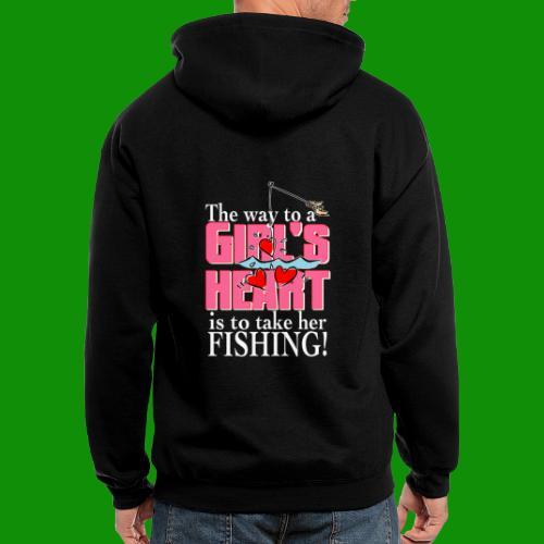 Fishing - Way to a Girl's Heart - Men's Zip Hoodie