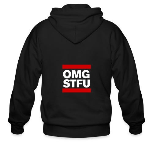 OMG STFU (white/color) - Men's Zip Hoodie