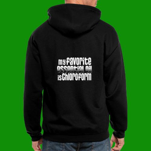 Chloroform - My Favorite Essential Oil - Men's Zip Hoodie