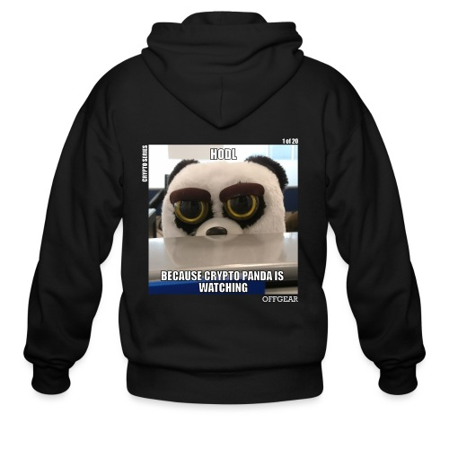 Crypto Panda Is Watching (Crypto Series) - Men's Zip Hoodie