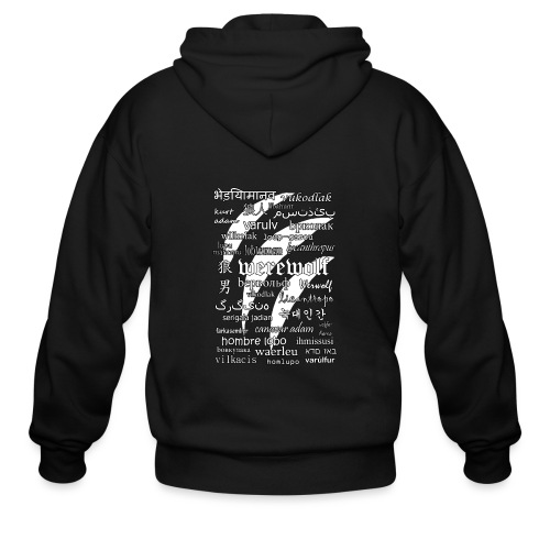 Werewolf in 33 Languages (Black Version) - Men's Zip Hoodie