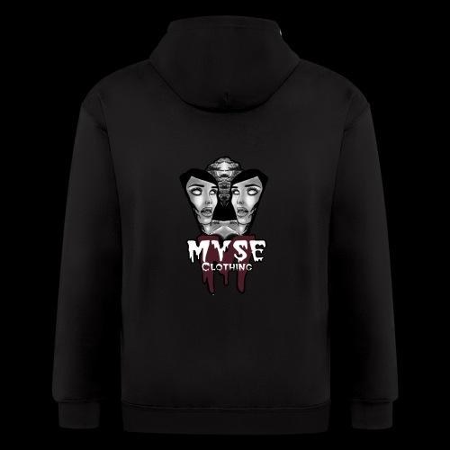 Myse clothing logo with vampire - Men's Zip Hoodie