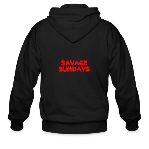 Savage Sundays - Men's Zip Hoodie