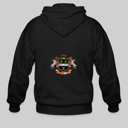 Satanic Heraldry - Coat of Arms - Men's Zip Hoodie