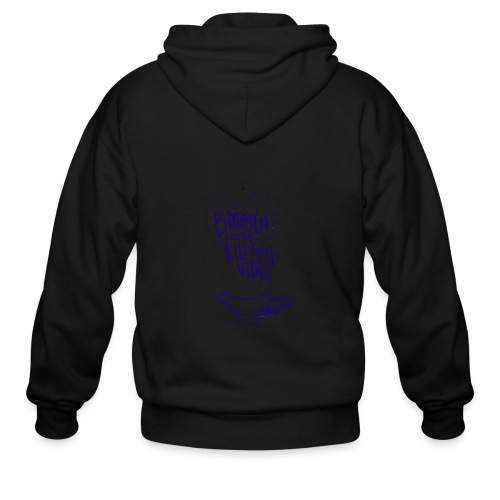 bitumen don't kill my vibe - navy - Men's Zip Hoodie
