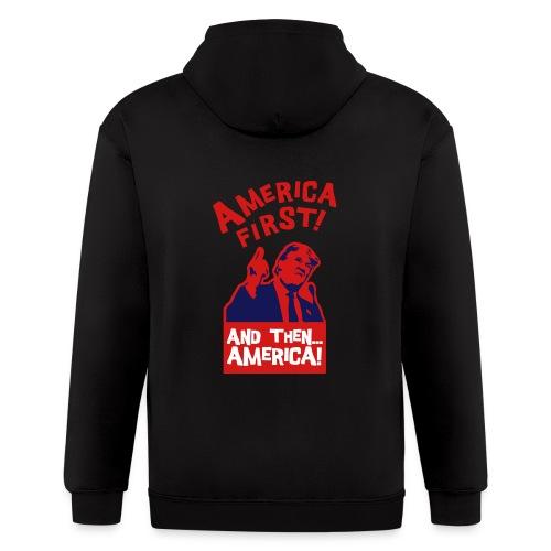 AMERICA FIRST - Men's Zip Hoodie
