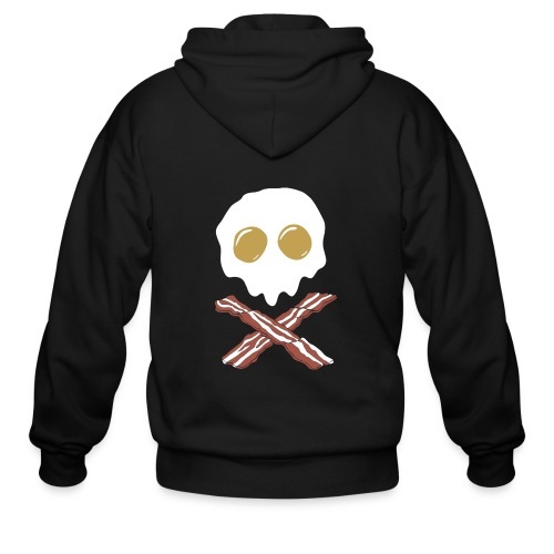 Breakfast Skull - Men's Zip Hoodie