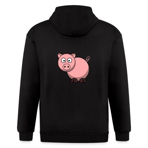 Funny Pig T-Shirt - Men's Zip Hoodie