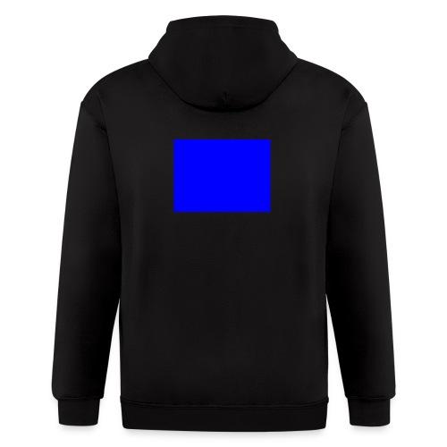 blue - Men's Zip Hoodie