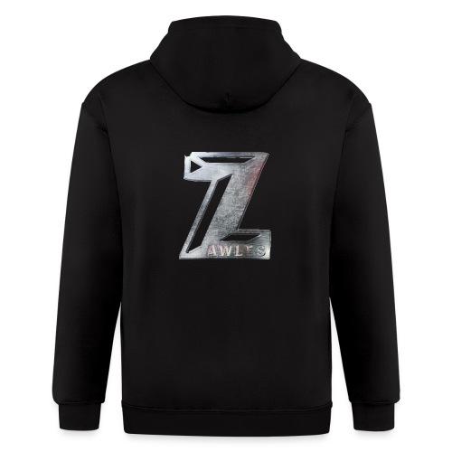 Zawles - metal logo - Men's Zip Hoodie