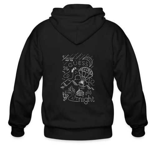 Up at Night Design - Men's Zip Hoodie