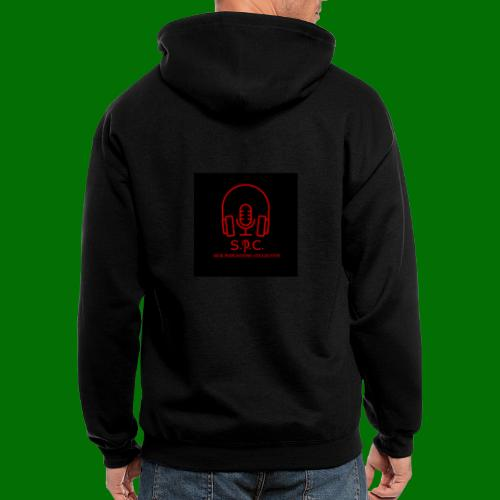 SPC Logo Black/Red - Men's Zip Hoodie