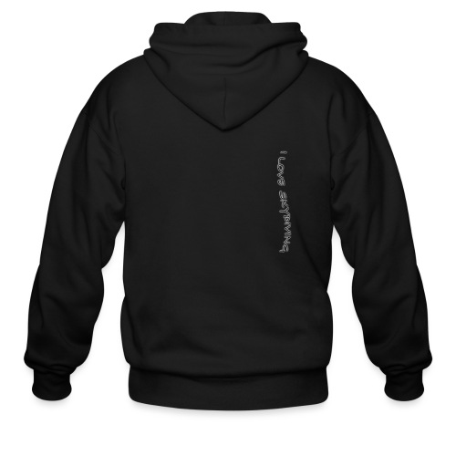 I love skydiving/T-shirt/BookSkydive - Men's Zip Hoodie