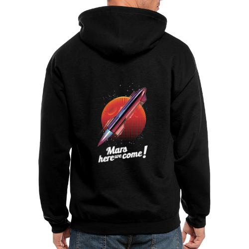 Mars Here We Come - Dark - Men's Zip Hoodie