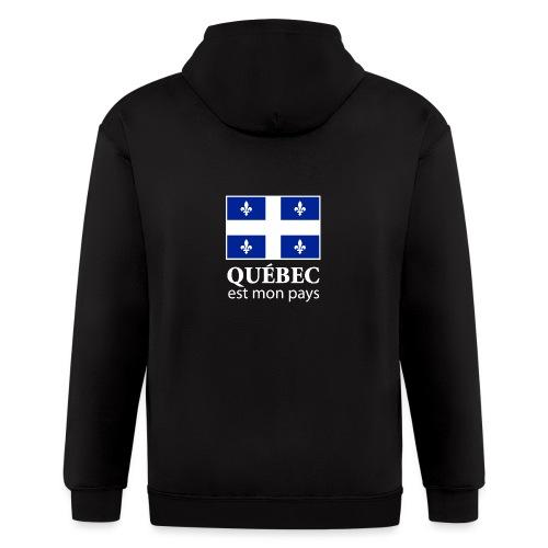 Québec est mon pays - Men's Zip Hoodie