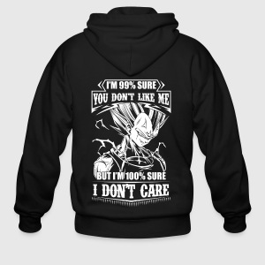 dragon ball super saiyan majin vegeta - Men's Zip Hoodie