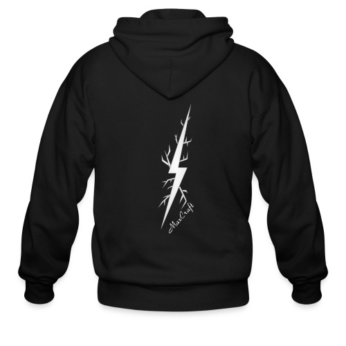 Full Zip Hoodie (White Lightning Bolt) NEW ITEM - Men's Zip Hoodie