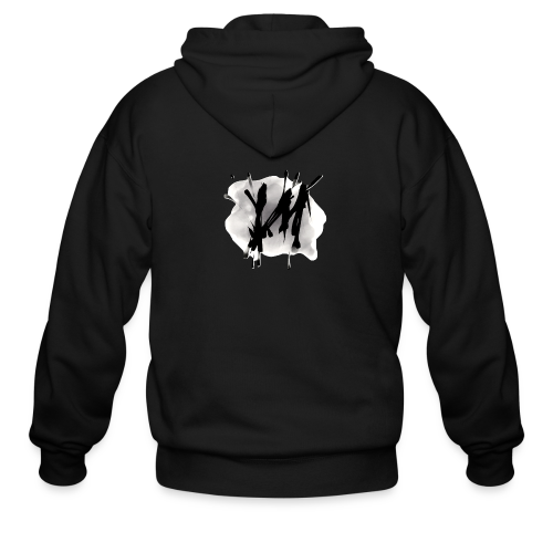 Vertical Minds splatter backgrounded - Men's Zip Hoodie
