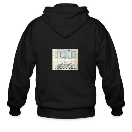 drawings - Men's Zip Hoodie