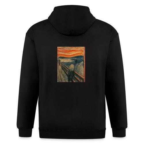 The Scream (Textured) by Edvard Munch - Men's Zip Hoodie