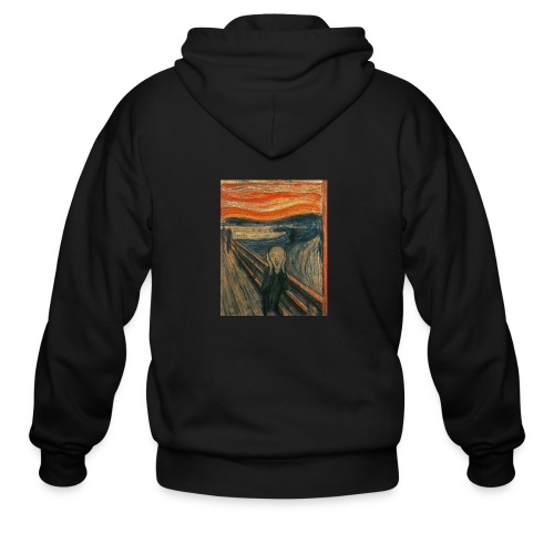 The Scream (Textured) by Edvard Munch - Men's Zip Hoodie
