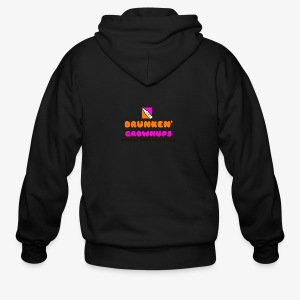 DRUNKEN GROWNUPS - Men's Zip Hoodie