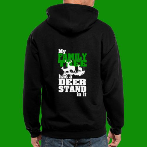 Deer Stand Family Tree - Men's Zip Hoodie