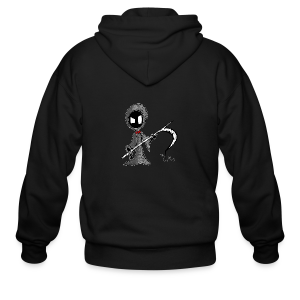 Mr. Grim Edgy - Men's Zip Hoodie