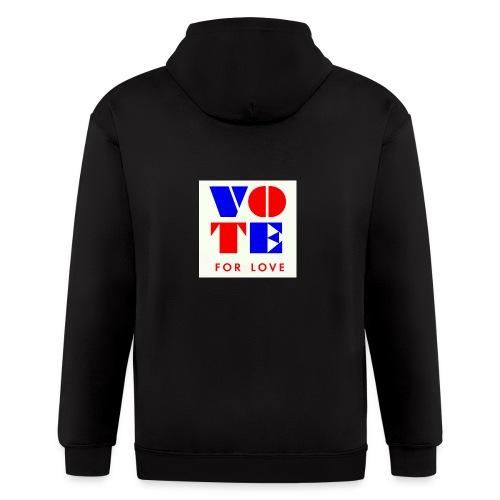vote4love-sample - Men's Zip Hoodie