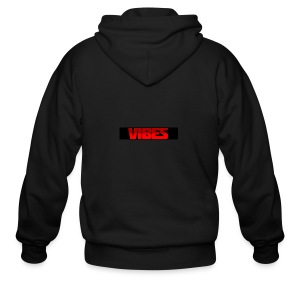 Black And Red Logo - Men's Zip Hoodie