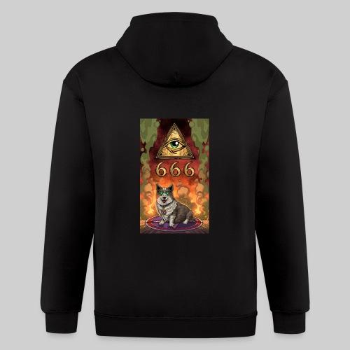 Satanic Corgi - Men's Zip Hoodie