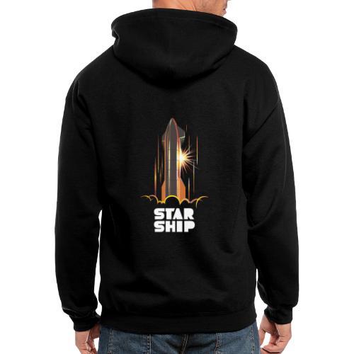 Star Ship Mars - Dark - Men's Zip Hoodie