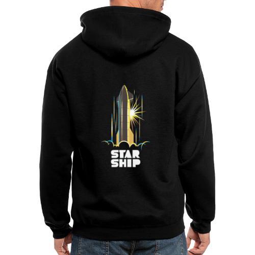 Star Ship Earth - Dark - Men's Zip Hoodie