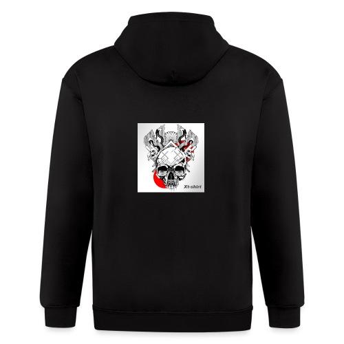 zt flameskull 01 - Men's Zip Hoodie