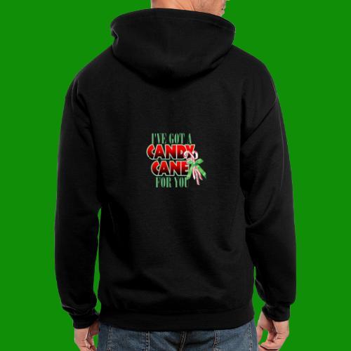 Candy Cane - Men's Zip Hoodie