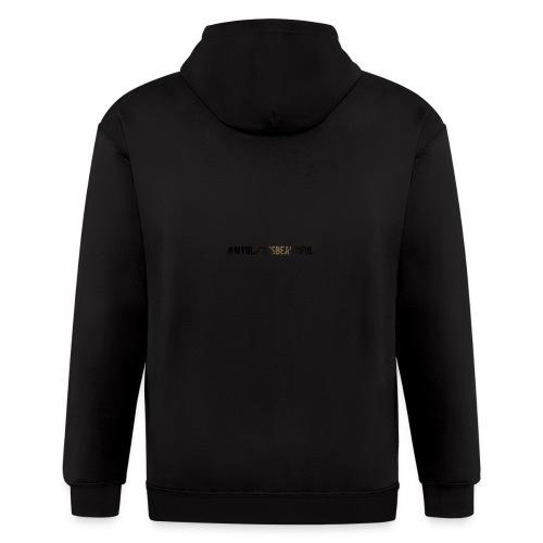 My black is beautiful - Men's Zip Hoodie