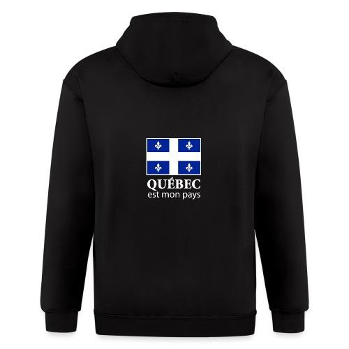 Québec mon pays - Veste zippée à capuche pour hommes
