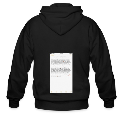 Text from a Football Commit - Men's Zip Hoodie