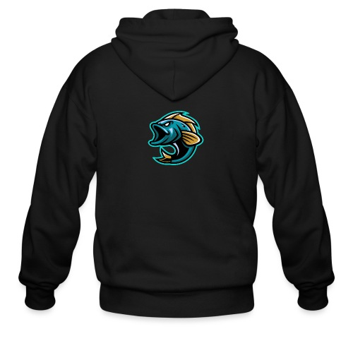 PogFish Logo Only - Men's Zip Hoodie