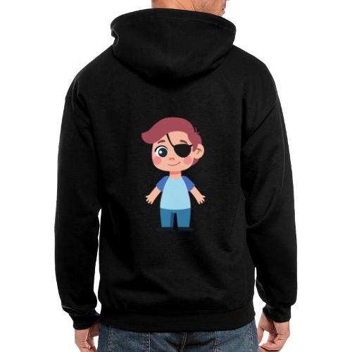 Boy with eye patch - Men's Zip Hoodie