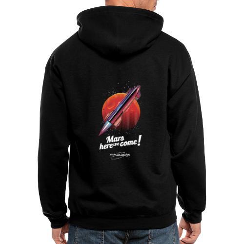 Mars Here We Come - Dark - With Logo - Men's Zip Hoodie