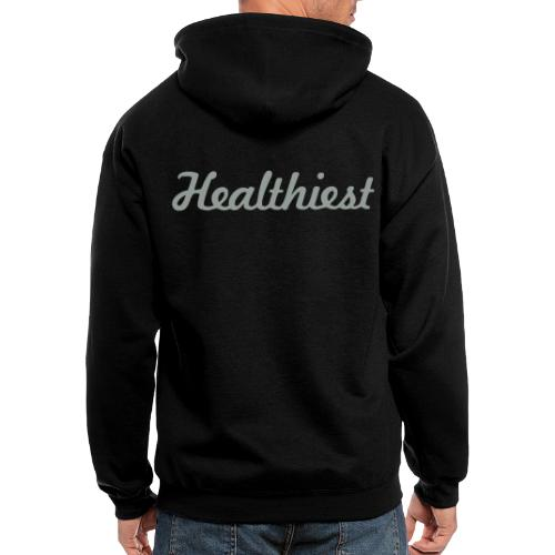 Sick Healthiest Sticker! - Men's Zip Hoodie