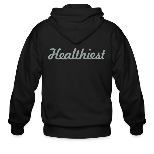 Sick Healthiest Sticker! - Men's Zip Hoodie