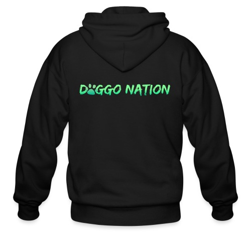 DoggoNation Logo - Men's Zip Hoodie